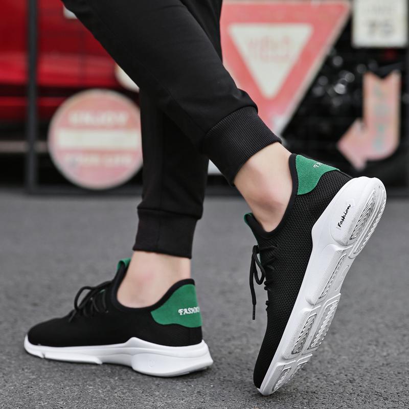 夏季透气板鞋2018新款男鞋子休闲帆布鞋韩版潮流运动百搭布鞋潮鞋