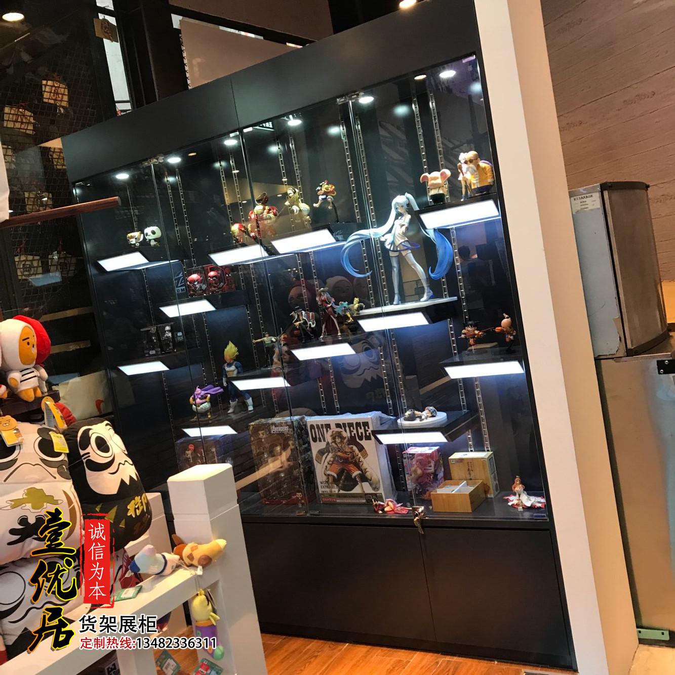 动漫公仔玩具模型手办展示柜 收藏品木质烤漆陈列柜包包鞋子货架