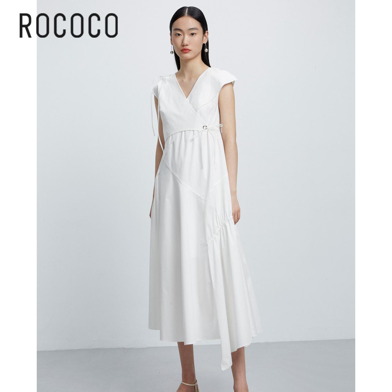 ROCOCO洛可可气质宽松短袖连衣裙长裙女2021夏292013TA1124