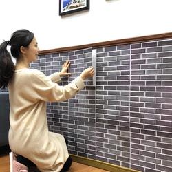 墙裙贴纸自粘护墙板砖纹3D立体墙贴创意壁纸墙纸装饰防水防撞翻新