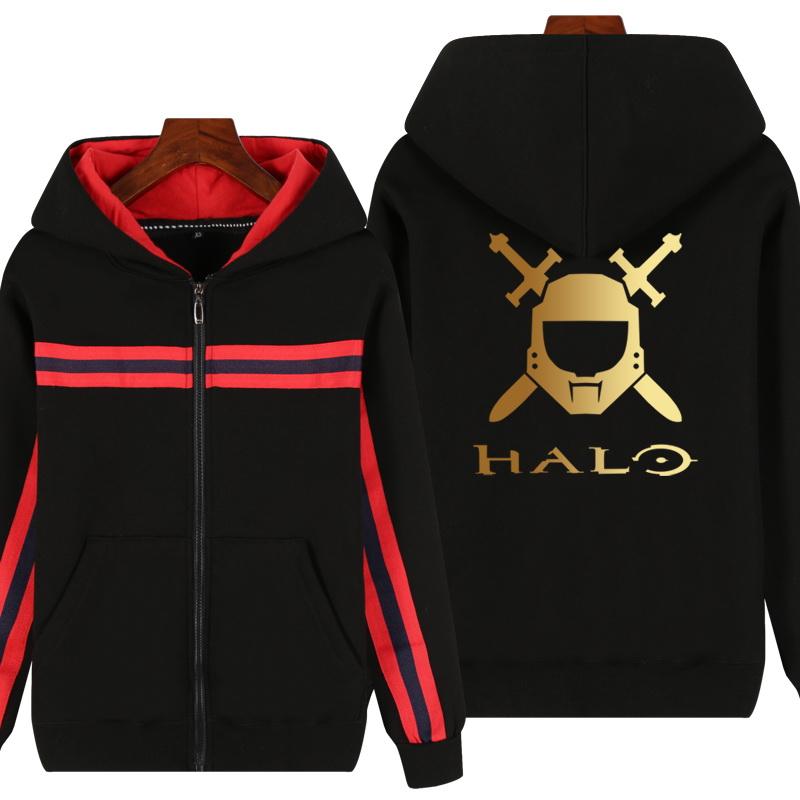 12-02新券光环光晕Halo卫衣PS4游戏周边男生宽松大码加绒外套冬季休闲衣服