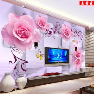 无缝墙布壁画8d影视背景5d立体现代简约客厅卧室3d电视背景墙壁纸
