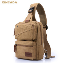 2019 new Waist Bag Canvas men's chest bag men's bag fashion backpack single shoulder bag multi-function sports messenger bag