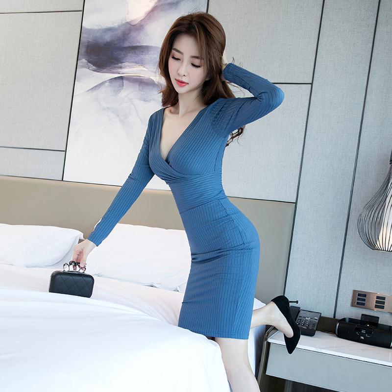 2019年新款性感女装收腰修身连衣裙限100000张券