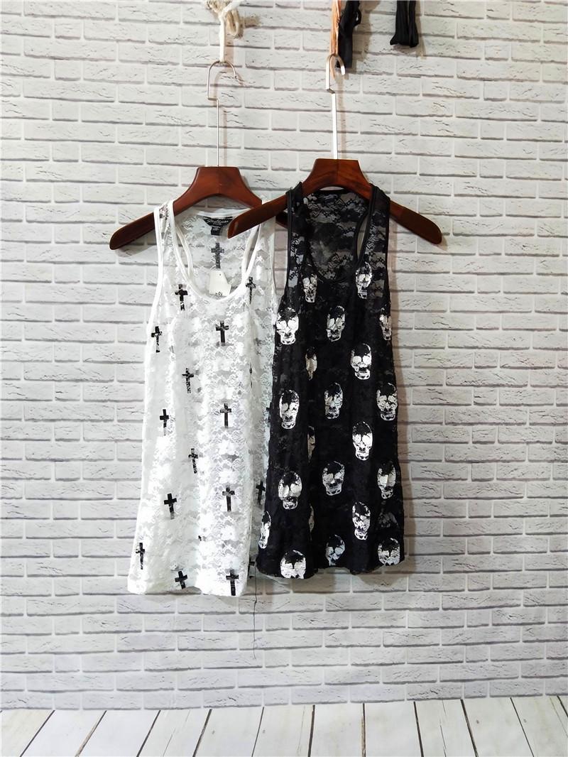 女装便宜清仓白菜价夏季新品全蕾丝吊带女式百搭背心 10-23