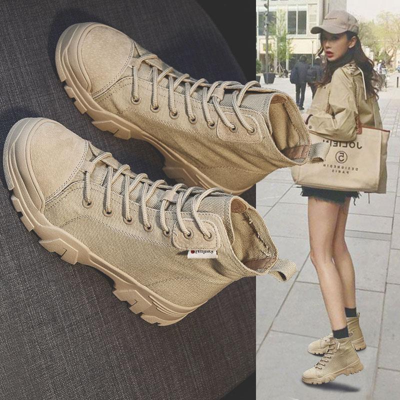 帅气马丁靴女英伦风薄款春秋单靴2020夏季新款百搭真皮机车短靴子
