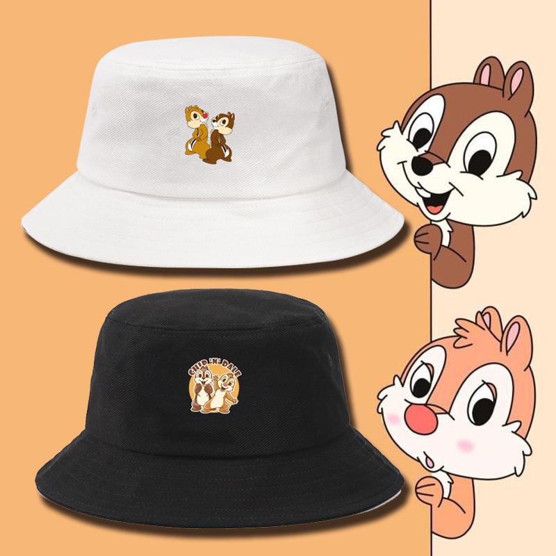 花栗鼠兄弟奇奇和蒂蒂松鼠大戰可愛情侶運動防曬太陽帽時尚漁夫帽