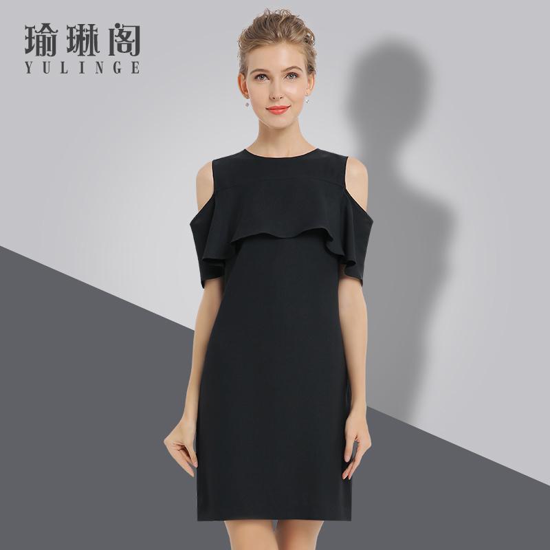商场撤柜女装 剪标正品尾货 2018年夏季新款连衣裙35-45大码短袖