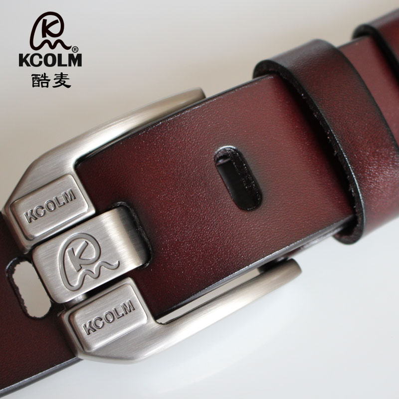 Mens lengthened leather belt large size fat man pure leather belt wide needle buckle leisure fashion trendy youth trouser belt