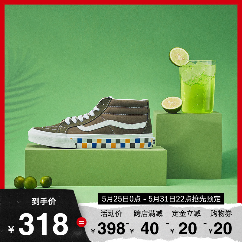 618预售 Vans范斯 经典系列 SK8-Mid板鞋 中帮男女新款官方正品图片