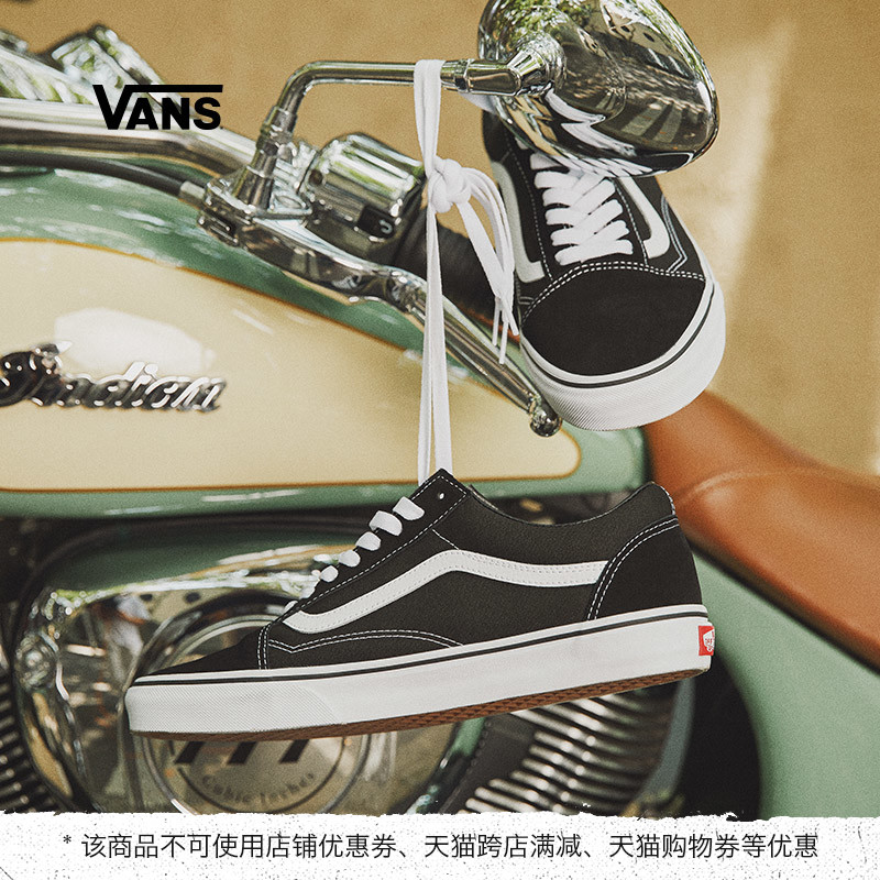 Vans Vans official 3HY28 classic black and white men's shoes women's shoes Old Skool low-top tide shoes