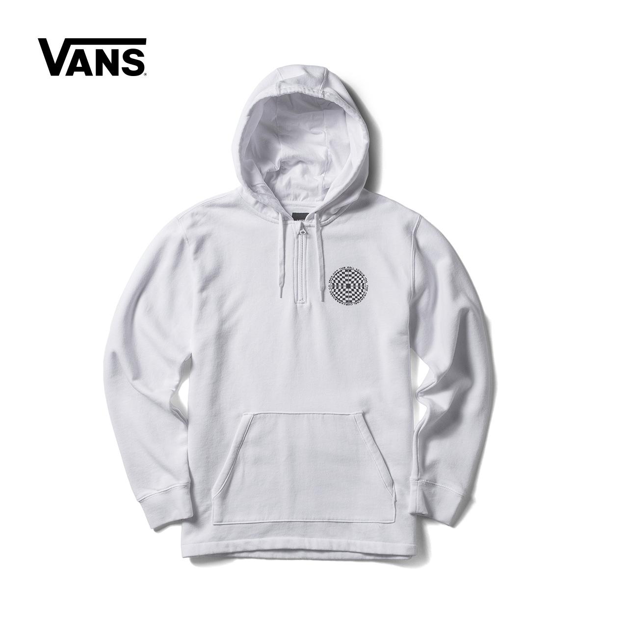 【 продажа 】Фургоны / модель этот весна белые мужские модели закрытый свитер |VN0A3723WHT