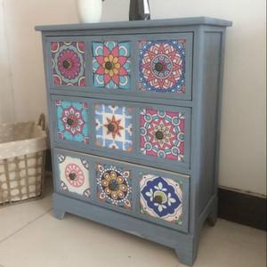 美式乡村家具地中海实木玄关复古做旧收纳柜装饰柜储物柜床头柜子