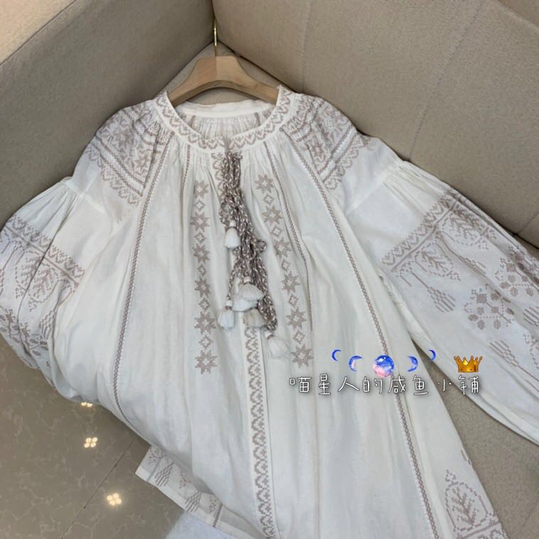 Bohemian womens Embroidered Dress Holiday chic long skirt with Cotton Lined shirt skirt