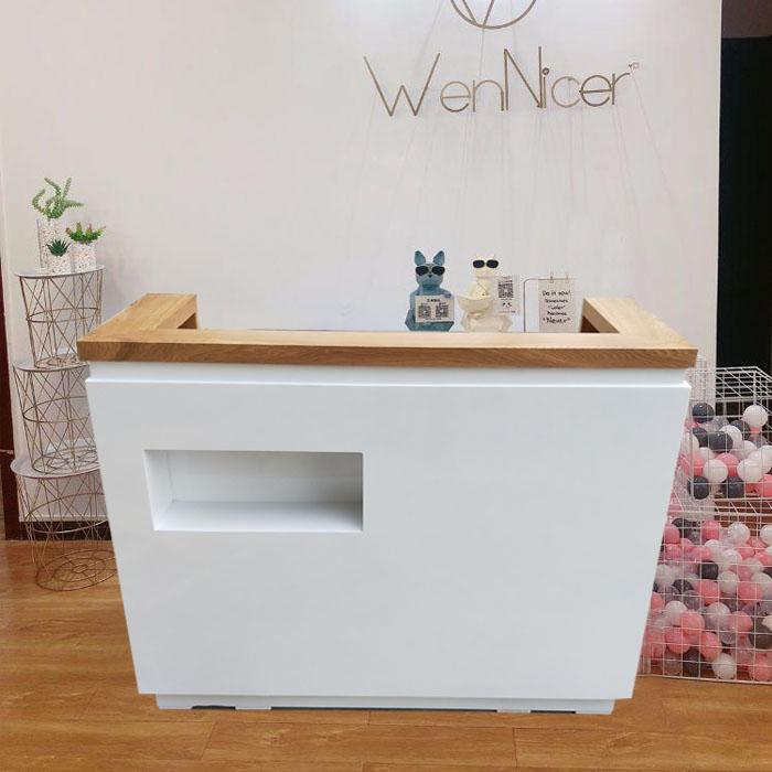 新款收银台柜台简约现代服装店美容院吧台公司前台接待台包邮