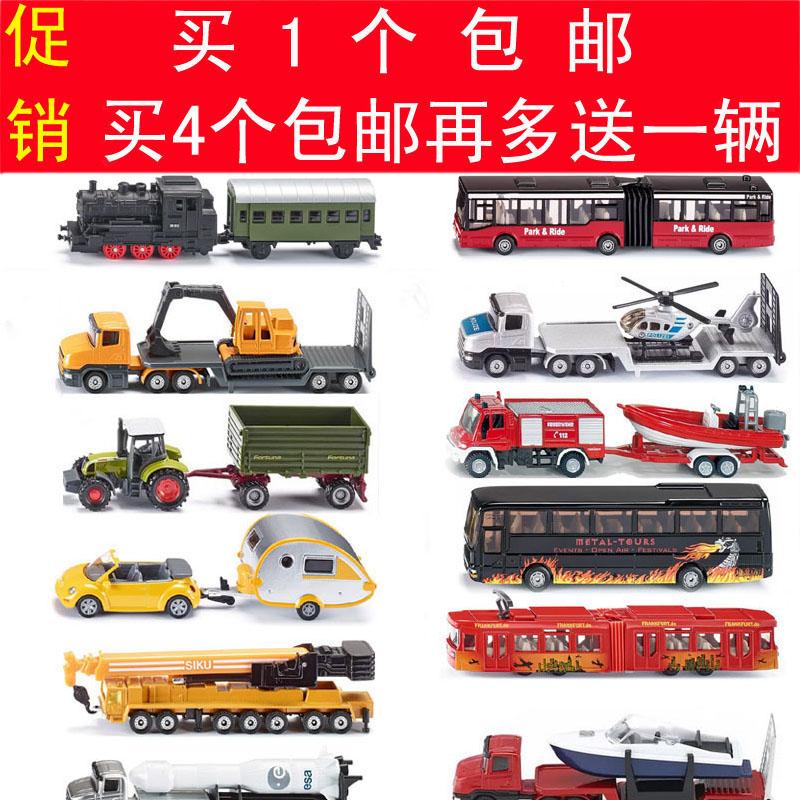 德��SIKU仕高合金�模型火�巴士拖拉�C吊�消防警�房�列�工程