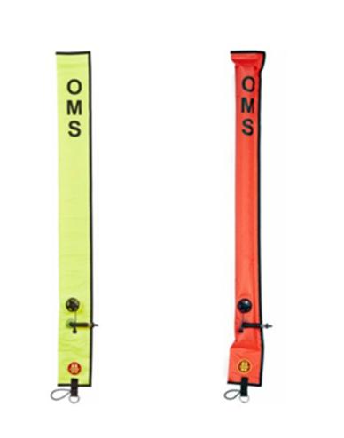 Предупреждающий маркер OMS Diver 1 метр Закрытый / открытый рот Выдувной поплавок стандартный Слон красный / Желтый