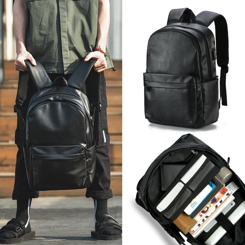 Backpack men's backpack fashion trend college students' schoolbag leisure computer large capacity travel business men's bag trend