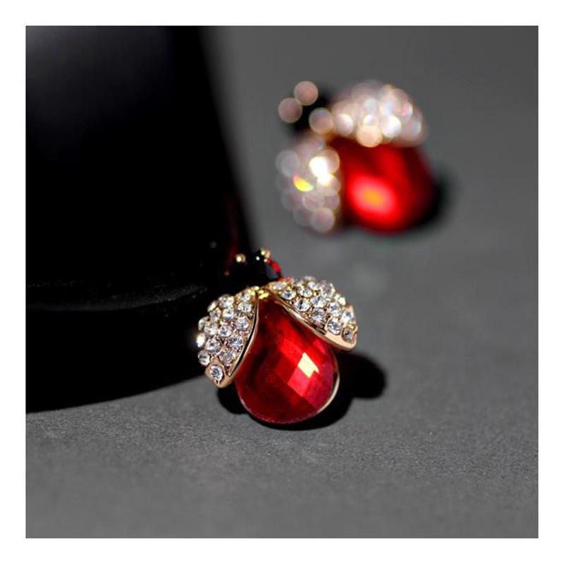 20 cute beetle, seven star ladybug, little animal earrings, female earrings, necklace set, new fashion in 2021