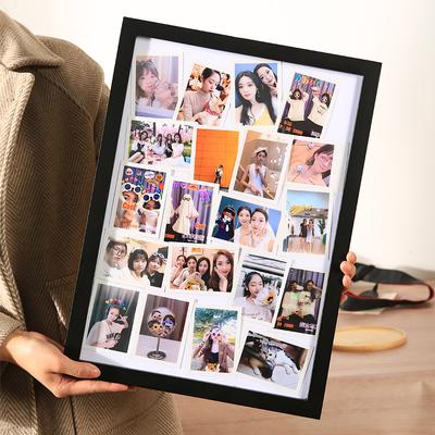 相框挂墙拍立得照片情侣diy礼物定制实木画框框架相片架摆台实木