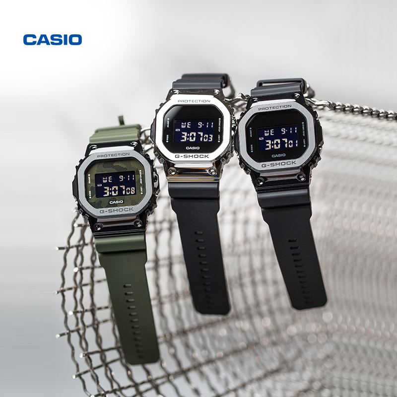 Casio flagship store gm-5600 student small square electronic watch male Casio official website g-clock