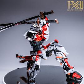 星海万代敢达拼装模型 MG 1/100红异端改 迷茫 高达 板喷改色成品