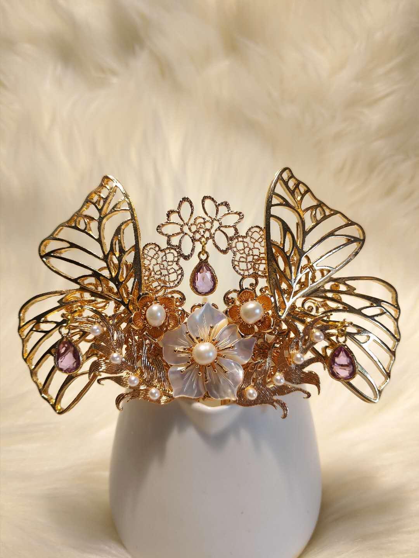 Xiaoxiangju original -- [midsummer nights dream] derivative Hanfu hair crown antique headdress accessories