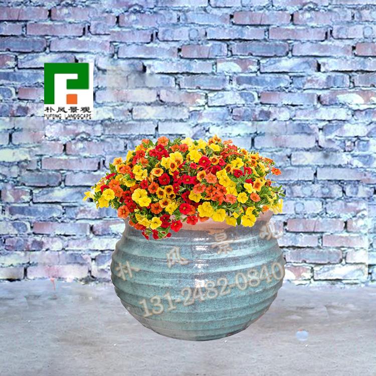 羅の紋様は簡単に植木鉢の陶土に釉をかけます。植木鉢の盆栽庭園の景観は家庭園芸庭園に通用します。
