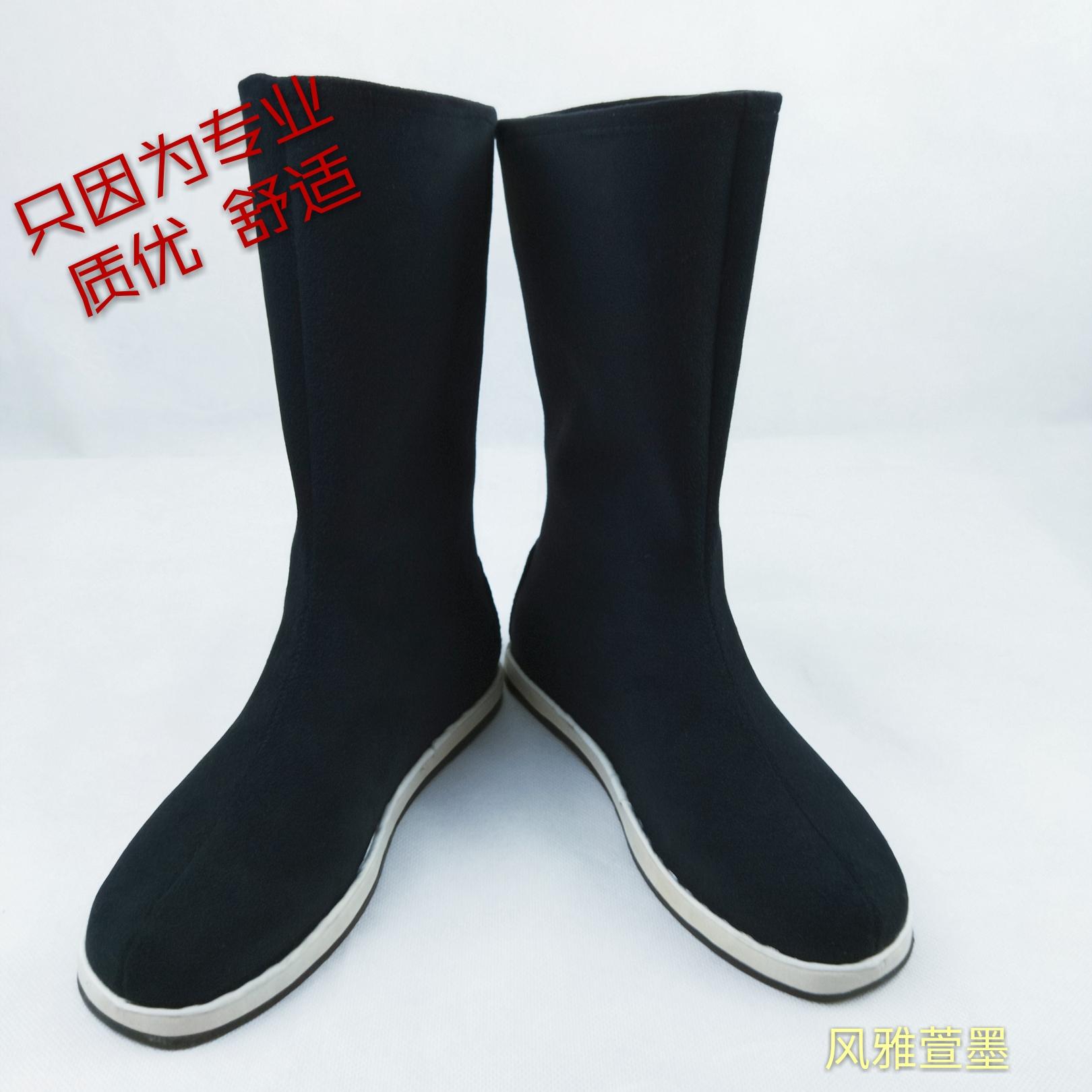 古装古风cos汉服戏曲弓鞋棉cp男女内增高官士兵摄影道具翘头靴子