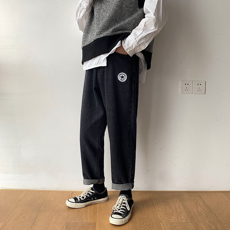2020 spring and autumn mens wide leg pants, youth Harem Pants, loose mens Korean fashion legged pants and jeans