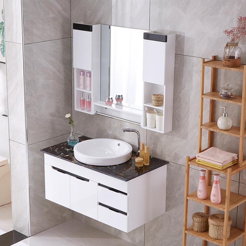 现代简约浴室柜小户型台上盆洗手台卫生间洗脸盆柜组合北欧挂墙式11-19新券