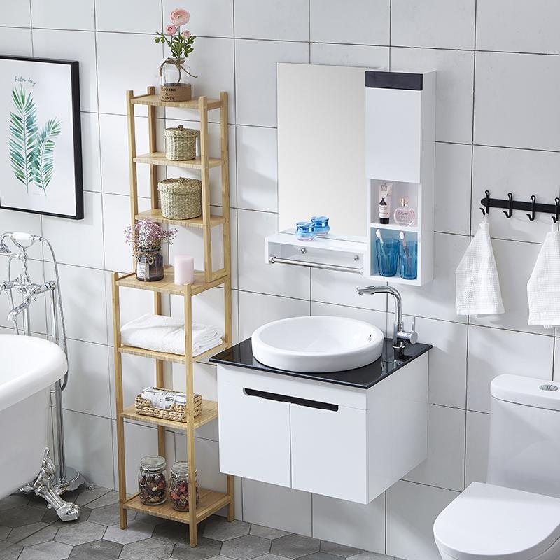 热销6件买三送一小户型pvc洗漱台挂墙60cm卫浴柜