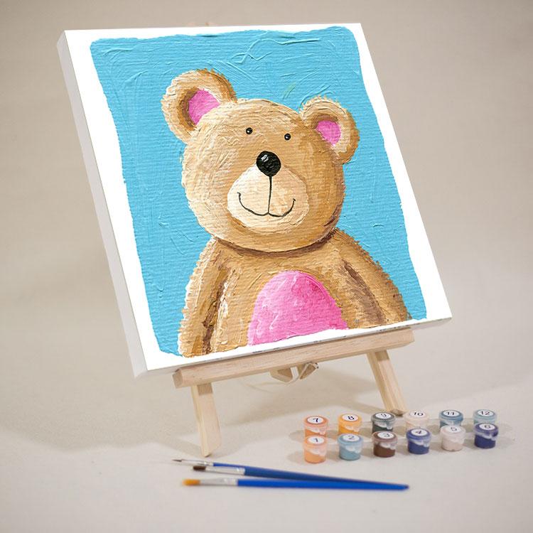 限8000张券儿童数字油画diy手工自绘填色填充画小油彩装饰涂色画幼儿园简单