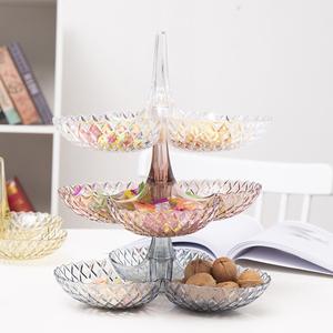兆宏创意欧式可叠加多层客厅水果盘