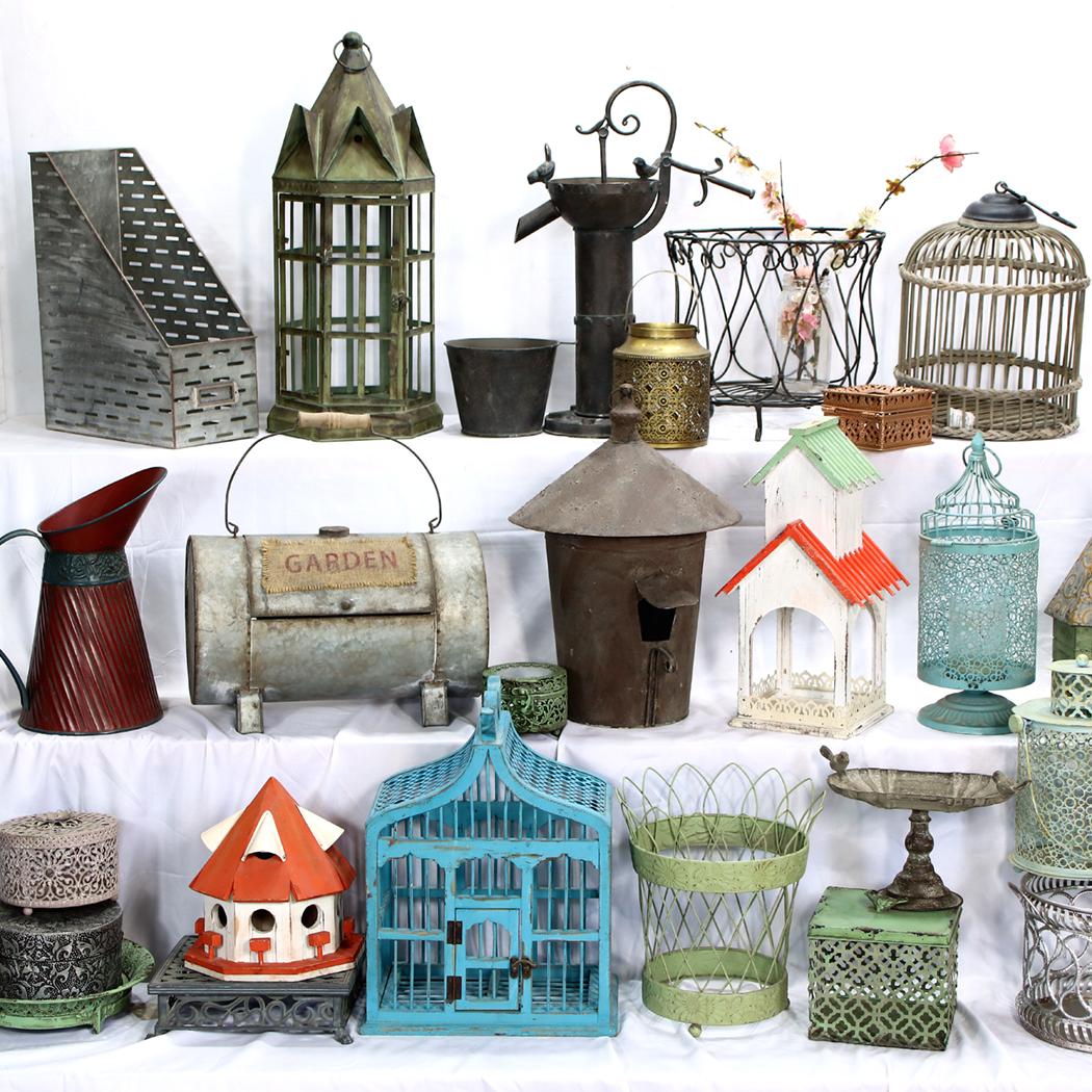 孤品大集合-美式庭院阳台zakka家居装饰品仿古做旧铁木杂货挂摆件