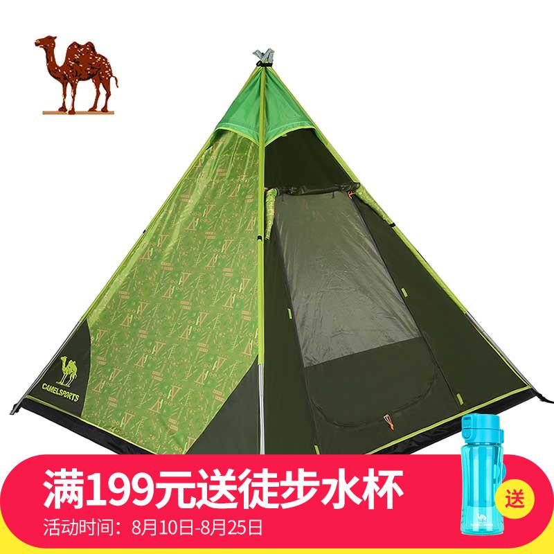 骆驼户外帐篷 露营单层四季账3-4人金字塔帐篷