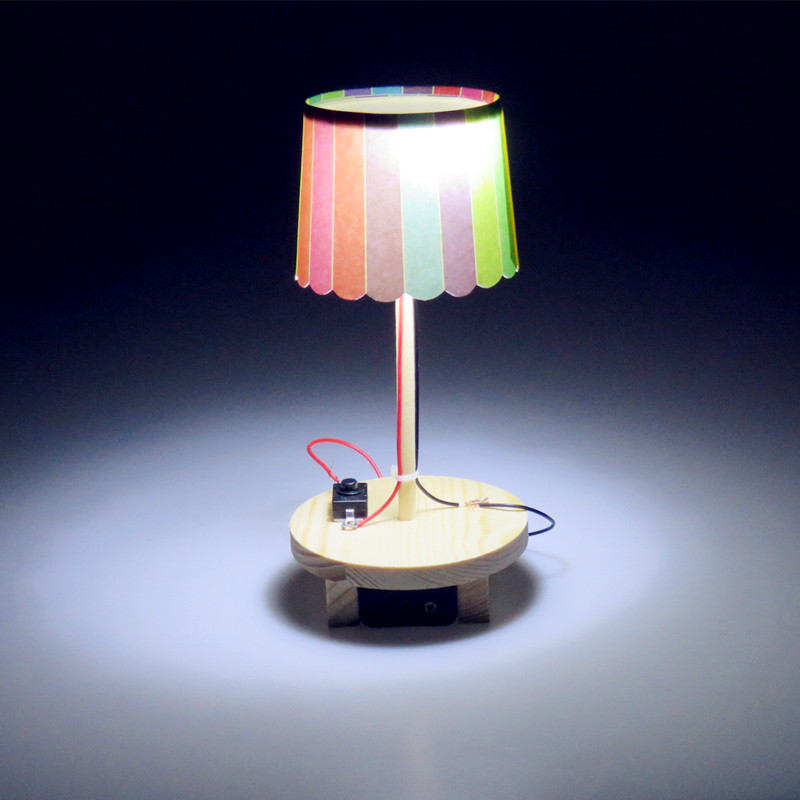 学生科技小制作小发明 手工创意台灯diy材料幼儿园科学实验玩具