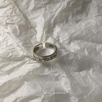 种我爱你投影定制网红二合一皇冠戒指100情侣对戒纯银女刻字