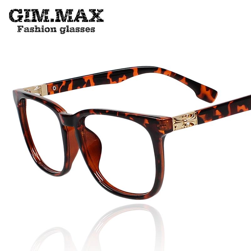 ca12c94562 GIMMAX translucent black-rimmed glasses on a large square frame glasses  frames plain men and
