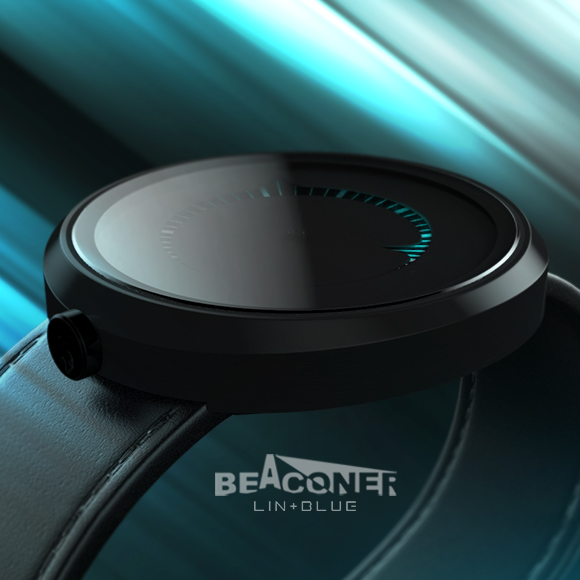 [concept model] beaconer guide B1: simple fashion concept watch of sapphire in fluid engineering