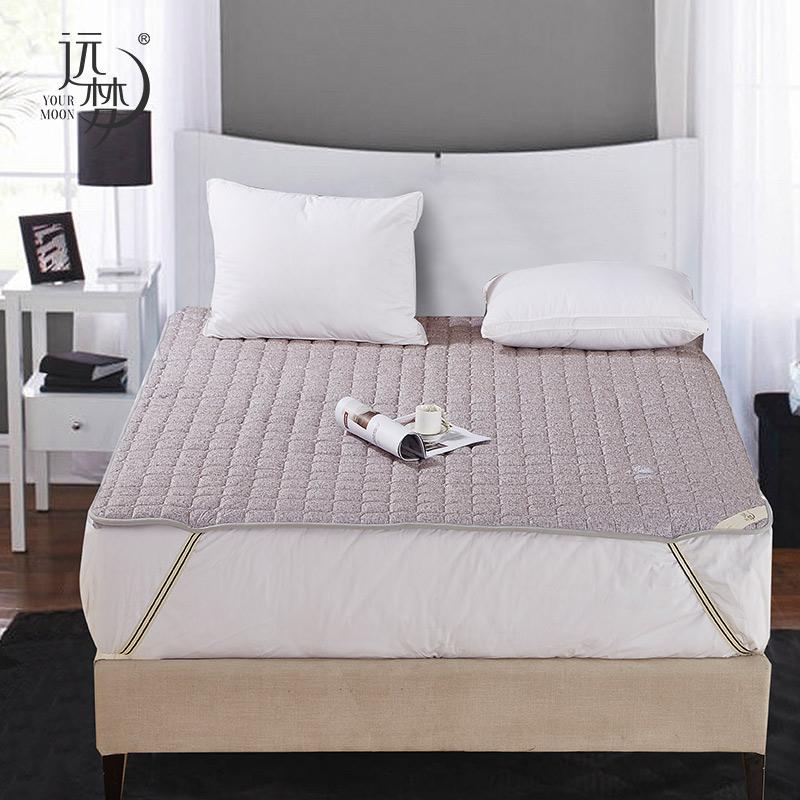 远梦折叠床褥 时尚亲肤床褥床垫1.5/1.8米床垫子单双人保护垫素色,可领取20元天猫优惠券