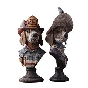 BHM贝汉美 树脂工艺品动物摆件家居装饰品家具软装摆设情侣狗