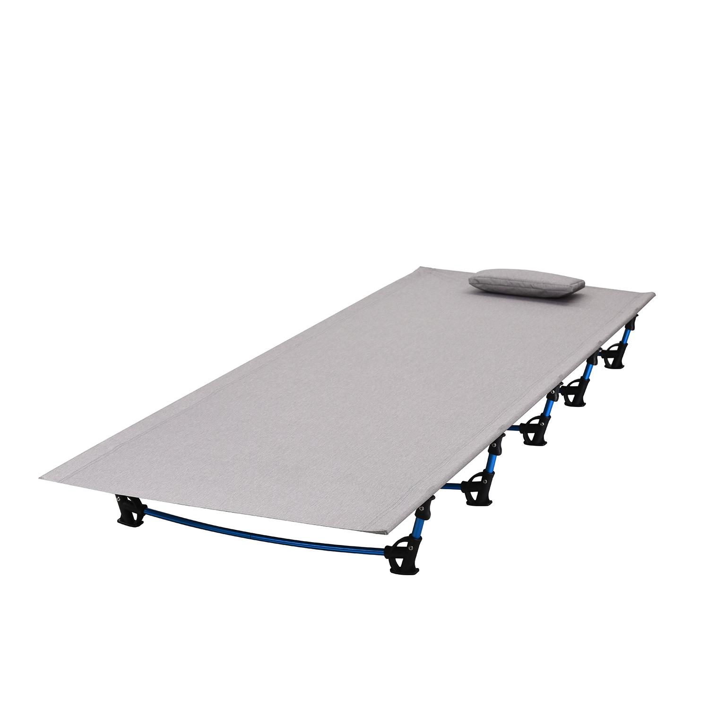 2017 открытый ультралегкий алюминий сплав один Кровать кемпинг офисный обед кемпинг портативный открытый со складыванием кровать