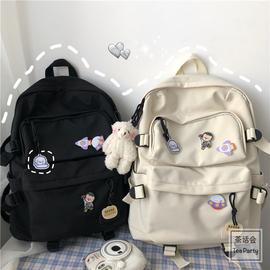 韩版ins风学生书包女 日系原宿学院风可爱软妹少女双肩包旅游背包图片