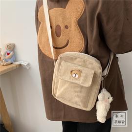 韩国INS古着感可爱小熊学生小挎包 日系原宿风chic少女软妹斜挎包图片