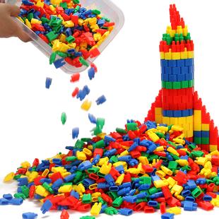 火箭子弹头桌面积木玩具益智儿童拼插塑料幼儿园3 8周岁男孩