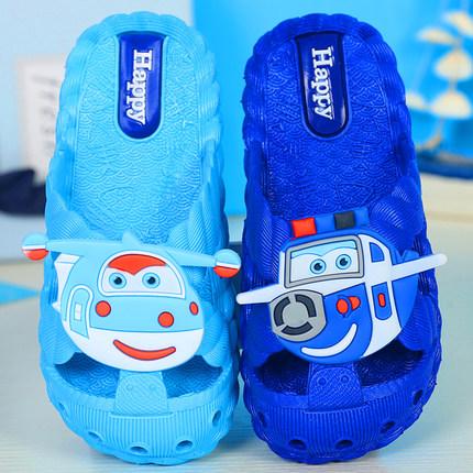 儿童拖鞋夏季凉拖亲子软底防滑小孩男女宝宝浴室内家居可爱包头鞋