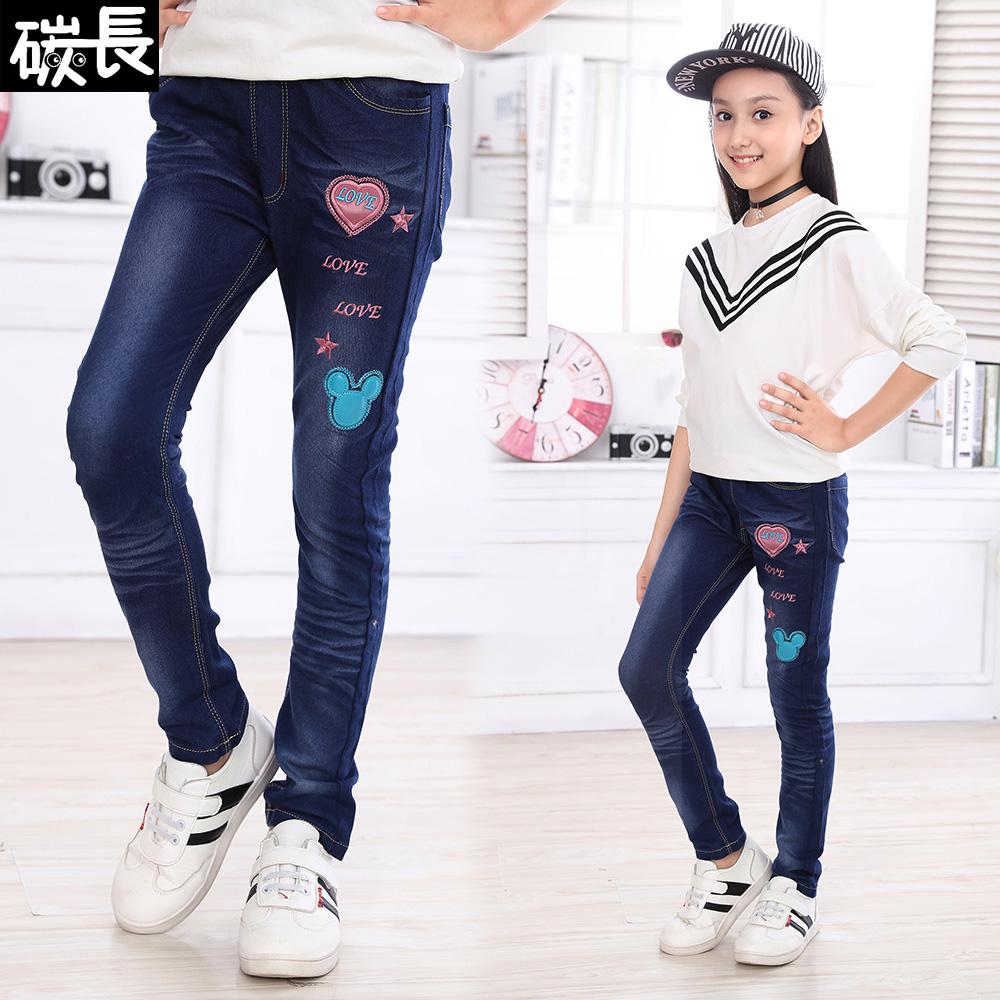 女童 兒童女孩牛仔褲
