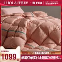 罗莱家纺床上用品冬季白鸭绒羽绒被评价好不好