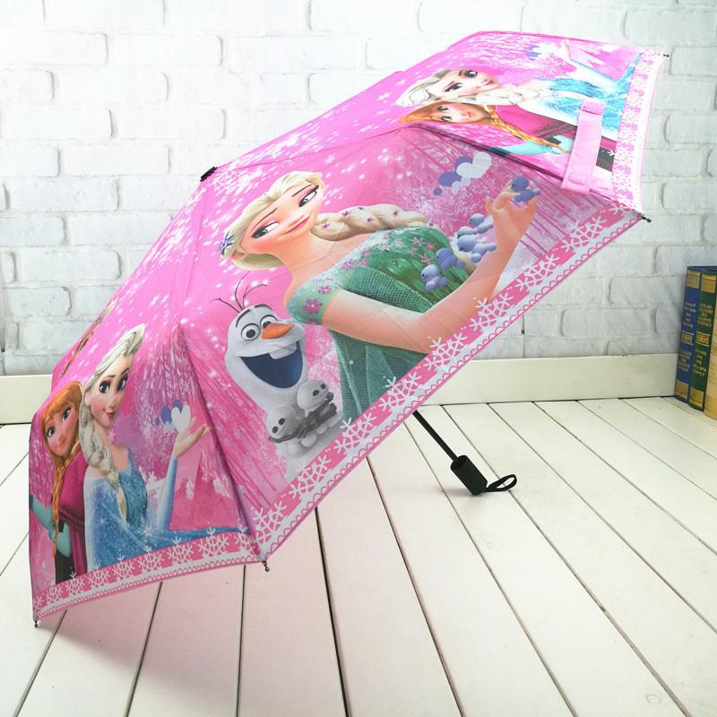 儿童雨伞男女折叠超轻卡通小学生6-12手动遮阳两用晴三折小孩雨伞